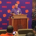 Dabo Swinney excited to see us media folks, only because it means it is game week @wyffnews4 http://t.co/CH9BZXi7c3