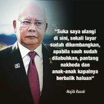 """""""Dato Seri, kalau turunkan sauh lepas tu lebarkan layar, tu bukan nk pergi belayar. Tu namanya nk buat pacak"""" - Amran http://t.co/rG33evNQrz"""