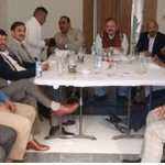 Barrister Sultans (President PTI AJK) meeting with Honorable PTI UK representatives. http://t.co/qinUttCgxi