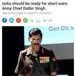 Indian Army Chief asks soldiers to be ready for short wars against Pakistan @defencepk http://t.co/uoGrNAmMDr