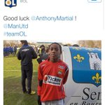 LOL souhaite bonne chance à Anthony Martial ! #MUFC http://t.co/yLglpVdiVk