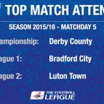 ATTENDANCES: The biggest crowds in each division this weekend http://t.co/7DoLrOzrnS