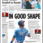 Alex Gordon returns today. Our @KCStar front page befitting a first-place #Royals club. http://t.co/GHoc33gcIL