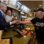 "Harper at Tims - ""Tell me what to do. Just dont let me handle the cash"" Isnt that what he said to Nigel? #elexn42 http://t.co/LbdSv1we5g"