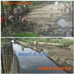 Panipat was divided into 6 zones for #MSGSwachhBharat & 5 Lakh volunteers made it completely trashfree in 4.30hrs. http://t.co/bJev9KohpW""