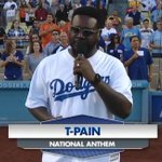 .@TPAIN sang the national anthem at a @Dodgers game WITHOUT AUTO-TUNE (and it was amazing): http://t.co/wo4I8NM3Ej http://t.co/gBLR12vV4d