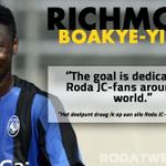 Aanwinst @Boakye_Yiadom9 scoorde vandaag in een interland een doelpunt voor Ghana. Dit zei hij na afloop: #RodaJC http://t.co/ZmRwk7nJxF