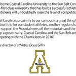 Welcome to the #FunBelt, @GoCCUsports! #TogetherWeRise http://t.co/uyyltl4Hx5