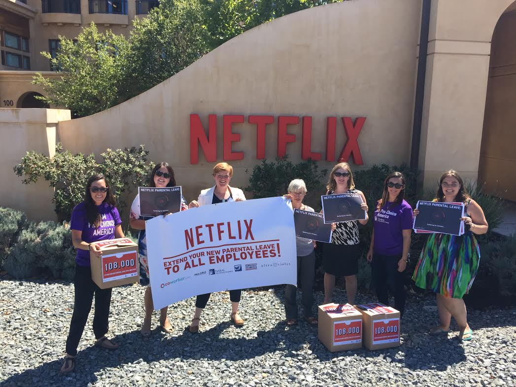 We're at @Netflix delivering 108k+ petitions w @UltraViolet @WorkingFamilies @DFAaction @MIWCampaign & @teamcoworker! http://t.co/hLxIIasi1R