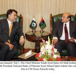 CM #Sindh Syed Qaim Ali Shah holding meeting with President National Bank of Pakistan Syed Ahmed Iqbal Ashraf http://t.co/LipuzagOxN