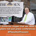 .@LarryHogan #PlansNotPressers http://t.co/pehL2OS9J5