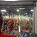 Palmetto mayor Shirley Groover Bryant admires the nearly 15k costumes stored @FeldEnt http://t.co/pMaJVKzL1h