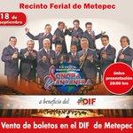 ¡No te puedes perder el concierto de la Sonora Santanera! ¡única función 18 de sep en beneficio del DIF de #Metepec! http://t.co/5n2GIVoE3S