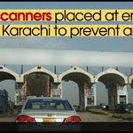 Hi-tech scanners placed at entry, exit points of #Karachi to prevent arms influx Read more: http://t.co/c4i5K106a4 http://t.co/hP9FVhec5a