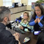 "BREAKING: Kim Davis and entire office staff ordered to appear in federal court where ""gods will"" doesnt matter. http://t.co/a9DWKAXWqV"