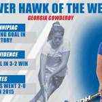 Georgia Cowderoy has been named the first River Hawk of the Week in 2015-16! Great job, Georgia! #UnitedInBlue http://t.co/aNxT38tsiS
