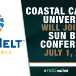 Coastal Carolina University will join the @SunBelt, beginning July 1, 2016. http://t.co/3nm87sg0Ep