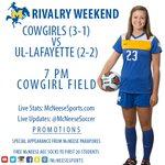 FRIDAY = RIVALRY NIGHT! Come watch the Cowgirls take on UL-Lafayette beginning at 7 oclock! #GeauxPokes http://t.co/2hMMFQlwTS