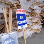 Signs are ready at Spokane Education Association in case strike happens on Friday @KHQLocalNews http://t.co/atUDcckmMz