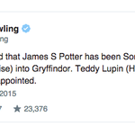 Harry Potter's son is officially a Gryffindor, according to @jk_rowling: http://t.co/xVMvXcEMzQ http://t.co/i7jJIIWZiI