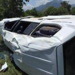 Aparatoso accidente a la altura de Villa Germania. El concejal @IvanLuquezM resulto herido http://t.co/eVsNwz87Tm