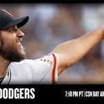 Madison Bumgarner and the #SFGiants play the rival Dodgers tonight in Los Angeles. http://t.co/Q4hFeERdBb http://t.co/sHjvhXjTCy