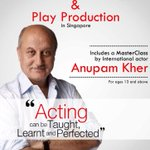 RT @actorprepares: #Actorprepares acting workshop in #Singapore this #Oct. Limited seats available. Visit http://t.co/6xcxsNegxa