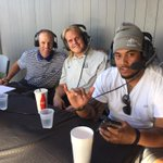 Senior DE Jordan Nielsen and senior OL Taani Fisilau have now joined @CoachWellsUSUFB on his weekly radio show. http://t.co/d5882tv9Wf