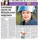 Wednesdays Times front page: Germany turns on Britain over migrants #tomorrowspaperstoday #bbcpapers http://t.co/h7xI3bHVww