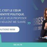 """""""La liberté, C le cœur de mon identité politique. C ce que je veux proposer à ceux qui veulent me suivre"""" @nk_m #NKM http://t.co/fJjOSJ5xnb"""