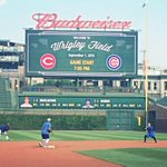 #Cubs starting 2nd baseman Javier Baez working w/SS Addison Russell before the game. @javy23baez hitting 7th vs Reds http://t.co/w8i01YBQAk