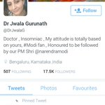 This lady is a Dr and followed by PM as she claims and see her disrespect to VP Hamid Ansari! @Vidyut @brownbrumby http://t.co/z7yTCfEOhz
