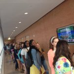 Lines down the hall for Girls Night Out! #TAMUCCGNO #TAMUCC19 #TAMUCC http://t.co/PF2iIAX9ss