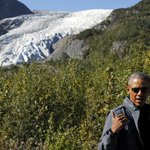 Obama visits receding glacier in Alaska to highlight climate change http://t.co/7AcR6Cy7LB http://t.co/EW0mZYW1oJ
