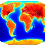 Just wow. Neutrino map traces Earths radioactive decay; dark spots are nuclear reactors. http://t.co/0mL2u9NEot http://t.co/McxawkXBVG