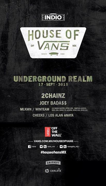 Mañana regalaremos entradas para Underground Realm de #HouseOfVansMx. 1er requisito para ganar: RT. http://t.co/bVWlvzBOTs