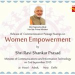 Dedicated to #women of #India & their contributions in every walk of life. Releasing today stamp on #womenempowerment http://t.co/ftXUlFE2Iy