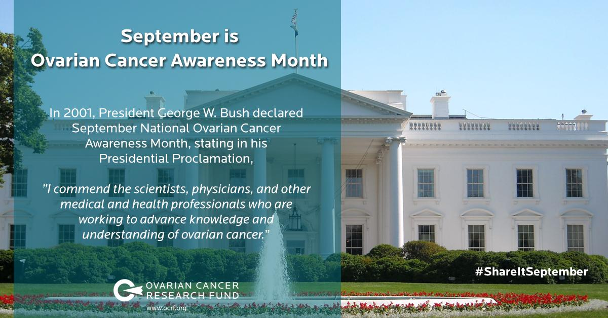 September is #OvarianCancer Awareness Month. Help spread the word! #ShareItSeptember http://t.co/HvumcNuuIo