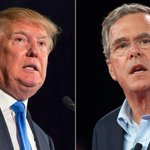 Jeb Bush and Donald Trump spent the day feuding on social media: http://t.co/efE1s9DA2u http://t.co/fNWY0ibO6y