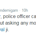 So dishonest Kejri takes credit for good deeds of Delhi Police, but blames Modi for anything wrong with it. http://t.co/UGE3VSfmlu