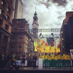 Were here at Martin Place in Sydney for the public reception for #NWC2015 Champions, the @AussieDiamonds ???? http://t.co/RgvuXKw5Lw