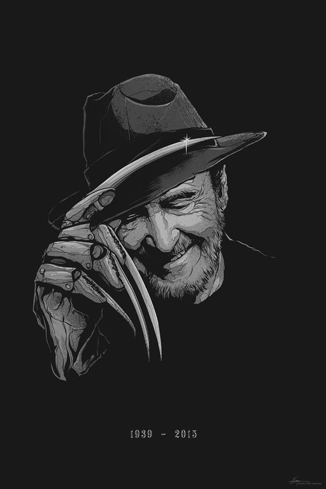 This beautiful tribute to Wes Craven by @mattryantobin will be raffled at HHW w/ all profits going to cancer research http://t.co/UpO9qPPay0