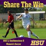 HSU 3, Southwestern 0 goals by Maddie McAdams, Kenne Kessler and Josey Meyer. http://t.co/uqjiHTJweR