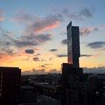 Beautiful #dusk over #Manchester last night!!! #Hilton #beethamtower http://t.co/SRwNJtHWLN