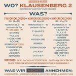 SACHSPENDENAUFRUF! Jeden Samstag #Klausenberg 2 in #Augsburg #Göggingen #refugeeswelcome #ÜbergepäckEinesFlüchtlings http://t.co/oGhZaZTXJT
