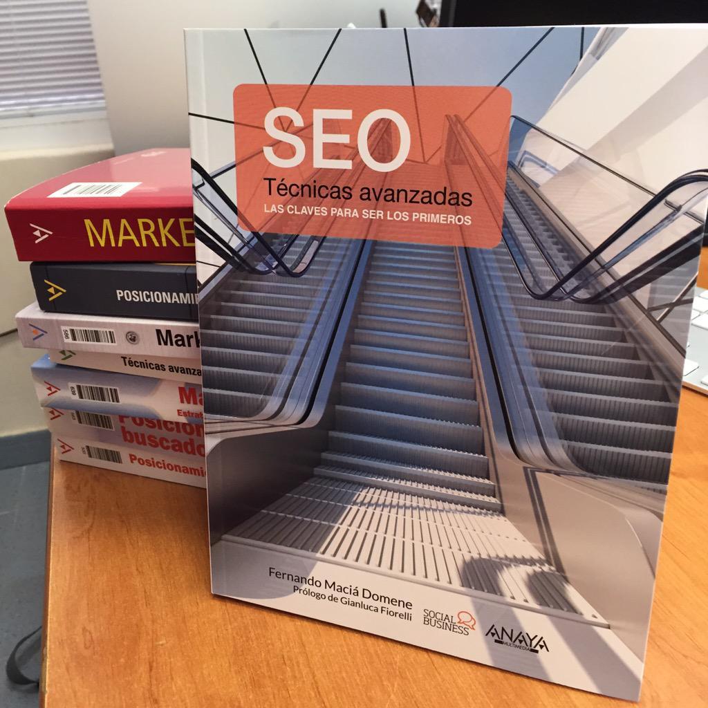 Habemus libro!!!!! Os presento SEO - Técnicas avanzadas http://t.co/vk620Uc7Mh
