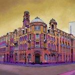 London Rd Fire Station #manchester original #painting #art #architecture http://t.co/En3LaJdAqp http://t.co/hj4AOPcqnm