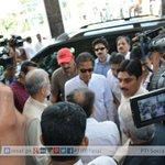 #PTI Chairman @ImranKhanPTI w/ @JahangirKTareen, @Asad_Umar & @naeemul_haque at ECP HQ to meet CEC Sardar Raza Khan http://t.co/XO8cxH4sbY