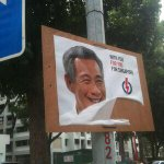 The vandals have struck and torn off PM Lee's smiling face! #GE2015 #sgelection #singapore https://t.co/nJnvkhNu3B http://t.co/yy5xHfPeJ3