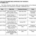 .@PAPSingapore, @SFPSingapore, @wpsg, @yourSDP rallies confirmed for tomorrow http://t.co/IY3PheIvas #GE2015 http://t.co/MyDCegt8IU